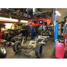 Genopbygning / udskiftning af chassiseramme